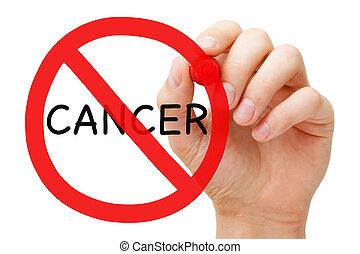 conceito,  câncer, proibição, sinal
