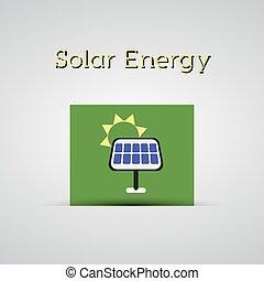 conceito, cartaz, bandeira, energia, planeta, fundo, vetorial, ecologia, solar, verde, painel, etc., cartão, modelo