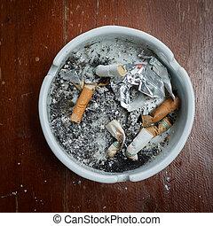 conceito, cinzeiro, não, imagem, toco, cigarro, fundo, fumar