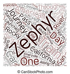 conceito, clássicas, 8211, texto, viagens, zephyr, americano, wordcloud, trem, califórnia, fundo