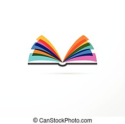 conceito, coloridos, -, educação, livro, criatividade, ...
