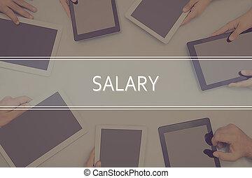 conceito, concept., salário, negócio