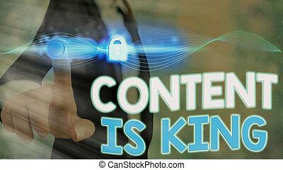 conceito, conteúdo, marketing, visibilidade, crescendo, results., texto, letra, pago, busca, king., focalizado, significado, non
