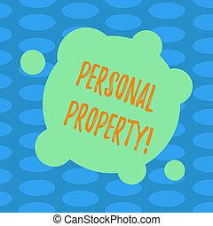 conceito, cor, texto, abstratos, photo., privado, forma, indivíduo, em branco, proprietário, posses, pessoal, escrita, property., círculos, negócio, pertences, palavra, ativos, deformado, pequeno, redondo
