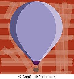 conceito, cor, texto, aquilo, promocional, desenho, penduradas, teia, esp, balloon, flutuante, três, quentes, modelo, sob, escarneça, apartamento, negócio, material, ilustração, amarrada, cópia, toned, cima, ar, vetorial, vazio, cesta, bandeiras