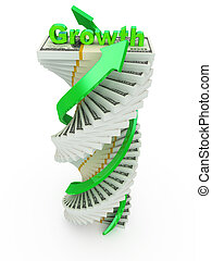 conceito, crescimento, renda