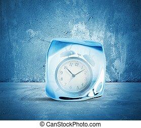 conceito, de, congelar, tempo