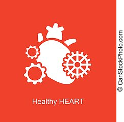 conceito, de, coração, como, perpetuum, móvel