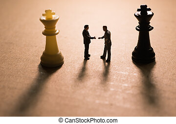conceito, de, estratégia negócio, deal.