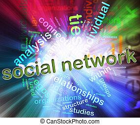 conceito, de, social, rede