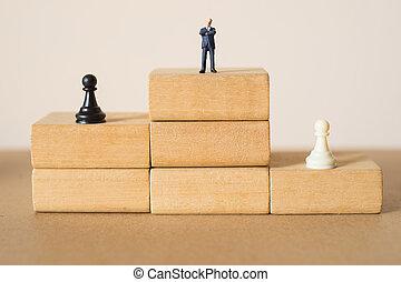 conceito, de, sucesso, negócio, strategy.