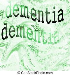 conceito, demência, (alzheimer)