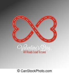 conceito, desenho, dia, fundo, valentines