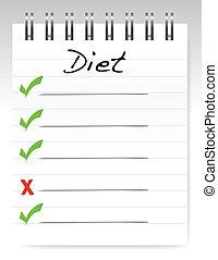 conceito, desenho, dieta, ilustração