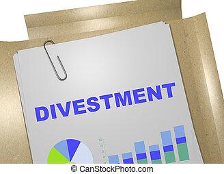 conceito, -, divestment, negócio