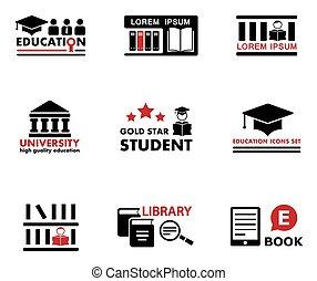 conceito, educação, ícones