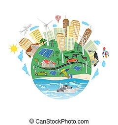 conceito, energia, verde, renovável