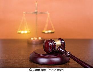 conceito, escalas, gavel madeira, lei, tabela