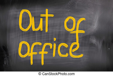 conceito, escritório, saída