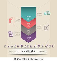 conceito, estratégia, gráfico, negócio, elemento