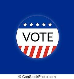 conceito, eua, votando, voto, logotipo, 2016