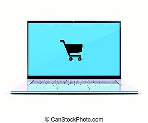 conceito, fazendo compras online