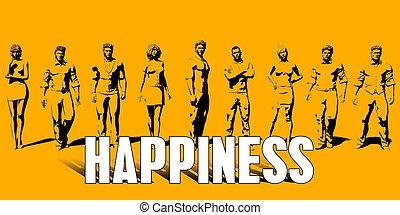 conceito, felicidade