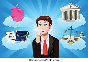 conceito, finanças, negócio