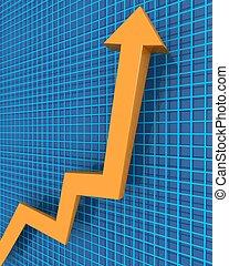 conceito financeiro, crescimento, negócio