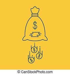 conceito, financeiro, negócio, corte, orçamento, despesas, segurança