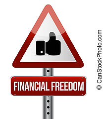 conceito, financeiro, semelhante, liberdade, sinal, rua