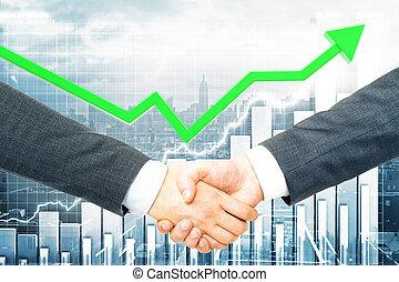 conceito financeiro, sociedade, crescimento