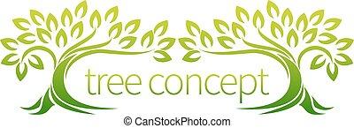 conceito, floresta árvore