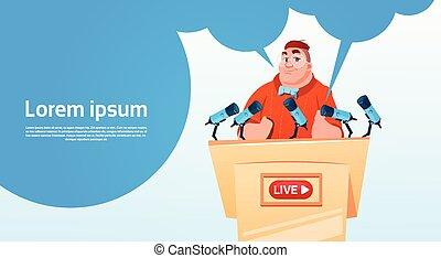 conceito, fluxo, blogger, subscrever, vídeo, online, blogging, homem