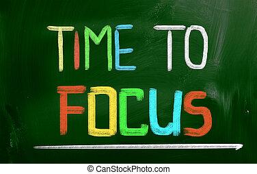 conceito, foco, tempo