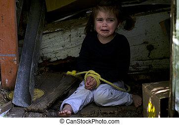 conceito, foto, -, traficar, human, crianças