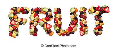 conceito, fruta
