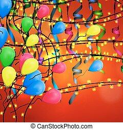 conceito, fundo, celebração aniversário