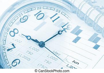 conceito, futuro, gerência, tecnologia, tempo