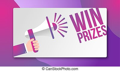 conceito, ganhe, -, desenho, prêmios, orador, bandeira