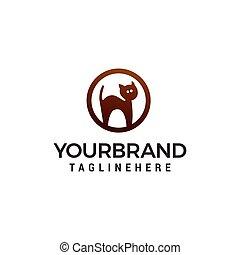 conceito, gato, vetorial, desenho, modelo, logotipo