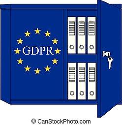 conceito, -, geral, regulamento, proteção, (english), dados, gdpr