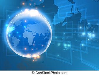 conceito, global, internet