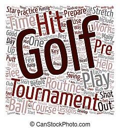 conceito, golfe, preparar, texto, torneio, como, wordcloud, fundo