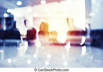 conceito, grupo, negócio, startup, olhar, future., sócio, incorporado