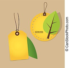 conceito, illustration., natureza, banner., árvore, experiência., vetorial, ecologia