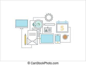conceito, ilustração negócio