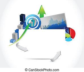 conceito, ilustração negócio, sinal, desenho, em branco