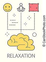 conceito, ilustração, relaxamento