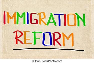 conceito, imigração, reform